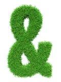 Zielonej trawy ampersand Obrazy Stock
