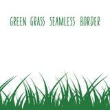 Zielonej trawy bezszwowa granica ilustracji