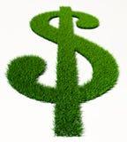 Zielonej trawy dolara symbol Zdjęcia Royalty Free