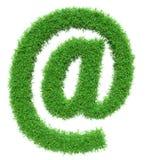 Zielonej trawy emaila symbol Obrazy Royalty Free