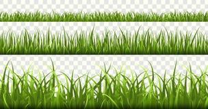 Zielonej trawy granicy Boisko pi?karskie, lato ??ki zieleni natura, panoram ziele wiosny makro- elementy, gazon trawa ilustracji