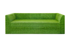 Zielonej trawy kanapa Zdjęcie Stock