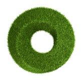 Zielonej trawy kształta abstrakcjonistyczny pączek Obrazy Stock