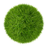 Zielonej trawy piłka odizolowywająca na białym tle Obrazy Stock