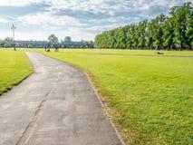 Zielonej trawy pole w Cambridge Zdjęcie Royalty Free