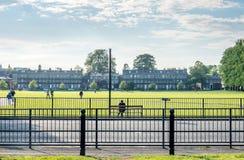 Zielonej trawy pole w Cambridge Obrazy Royalty Free