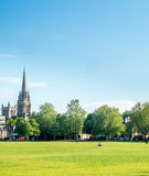 Zielonej trawy pole w Cambridge Obraz Royalty Free