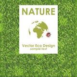Zielonej trawy tło wektory projektują eco grupującego ilustracyjnego warstew wektor Obraz Royalty Free