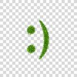 Zielonej trawy uśmiech 3D Smiley trawiastej ikony Odosobniony biały przejrzysty tło koncepcja ekologii obrazów więcej mojego port ilustracja wektor