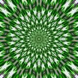 Zielonej trawy wiosny gwiazdy mandala kwiatu Wibrujący kalejdoskop Zdjęcia Royalty Free