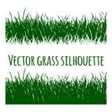 Zielonej Wektorowej trawy ustalona sylwetka ilustracji