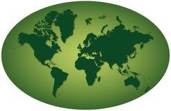 Zielonej ziemi hemisfera Fotografia Stock