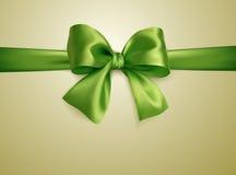 Zielony łęku beż Obraz Royalty Free