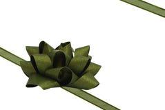 zielony łęku faborek Fotografia Royalty Free