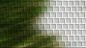 Zielony ściana z cegieł komputer wytwarzający Zdjęcia Stock
