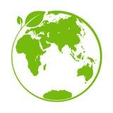 Zielony świat, logo lub szablon dla, projekta i dekoracji ilustracji