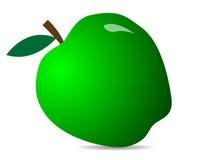 Zielony świeży jabłko Ilustracja jabłczana ikona Obraz Royalty Free