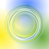 Zielony żółty błękitny abstrakcjonistyczny tło Obrazy Stock