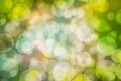 Zielony żółty bokeh Fotografia Royalty Free