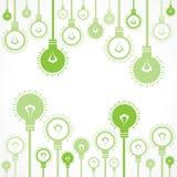 Zielony żarówki tło Zdjęcia Royalty Free