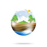 Zielony życie z eco i środowiska pojęciem Obrazy Royalty Free