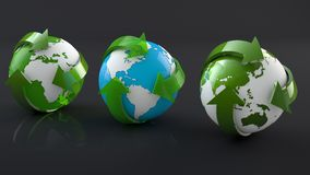 Zielony żywy przetwarza świat Zdjęcie Royalty Free