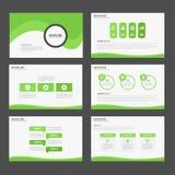 Zielony Abstrakcjonistyczny broszurka raportu ulotki magazynu prezentaci elementu szablonu a4 rozmiar ustawia dla reklamowej mark royalty ilustracja