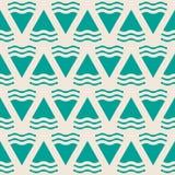 Zielony abstrakcjonistyczny geometryczny bezszwowy wzór Fotografia Royalty Free