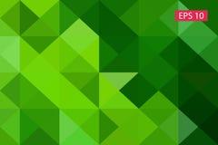 Zielony abstrakcjonistyczny geometryczny tło od wieloboków, trójboka tło, ilustracja, wzór, trójgraniasty te Zdjęcia Royalty Free