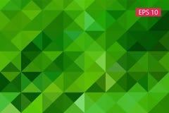 Zielony abstrakcjonistyczny geometryczny tło od wieloboków, trójboka tło, ilustracja, wzór, trójgraniasty te Fotografia Stock