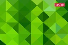 Zielony abstrakcjonistyczny geometryczny tło od wieloboków, trójboka tło, ilustracja, wzór, trójgraniasty te Obraz Royalty Free