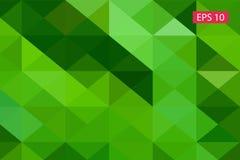 Zielony abstrakcjonistyczny geometryczny tło od wieloboków, trójboka tło, ilustracja, wzór, trójgraniasty te Obraz Stock