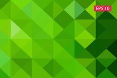 Zielony abstrakcjonistyczny geometryczny tło od wieloboków, trójboka tło, ilustracja, wzór, trójgraniasty te Zdjęcie Royalty Free