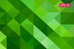 Zielony abstrakcjonistyczny geometryczny tło od wieloboków, trójboka tło, ilustracja, wzór, trójgraniasty te Obrazy Stock
