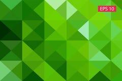 Zielony abstrakcjonistyczny geometryczny tło od wieloboków, trójboka tło, ilustracja, wzór, trójgraniasty te Zdjęcie Stock