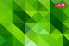 Zielony abstrakcjonistyczny geometryczny tło od wieloboków, trójboka tło, ilustracja, wzór, trójgraniasty te Obrazy Royalty Free