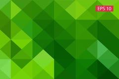 Zielony abstrakcjonistyczny geometryczny tło od wieloboków, trójboka tło, ilustracja, wzór, trójgraniasty te Zdjęcia Stock