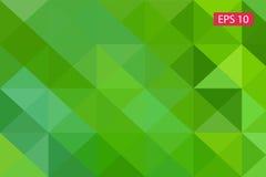 Zielony abstrakcjonistyczny geometryczny tło od wieloboków, trójboka tło, ilustracja, wzór, trójgraniasty te Fotografia Royalty Free