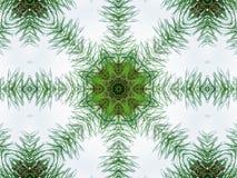 Zielony abstrakcjonistyczny kalejdoskopu tło Zdjęcia Royalty Free