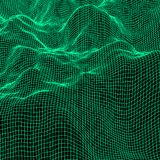 Zielony Abstrakcjonistyczny Poligonalny tło royalty ilustracja
