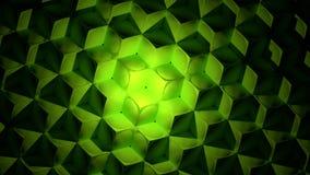 Zielony abstrakcjonistyczny sześcianu tło Fotografia Royalty Free
