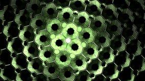 Zielony abstrakcjonistyczny sześcianu tło Fotografia Stock