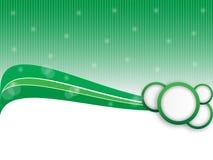 Zielony abstrakcjonistyczny sztandar Fotografia Royalty Free