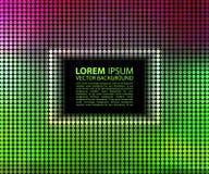 Zielony abstrakcjonistyczny sztandaru halftone kwadrat Zdjęcie Stock