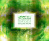Zielony abstrakcjonistyczny sztandaru halftone kwadrat Obrazy Stock