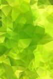Zielony abstrakcjonistyczny tło wielobok. Zdjęcie Royalty Free