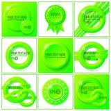 Zielony abstrakcjonistyczny wektorowy ustawiający tła dla twój Zdjęcia Royalty Free