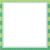 Zielony abstrakt ramy szablon dla projektów, zaproszenie, przyjęcie, urodziny, poślubia Zdjęcia Royalty Free
