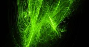 Zielony abstrakt Wykłada krzyw cząsteczek tło ilustracji