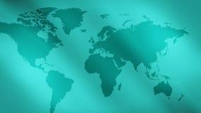 Zielony abstrakt zaświeca tło i światową mapę zdjęcie wideo